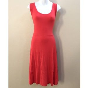 Old Navy coral fit and flare tank dress